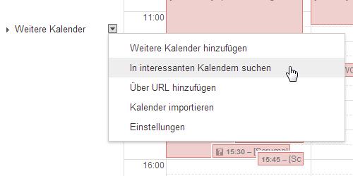 Feiertage im Google Kalender
