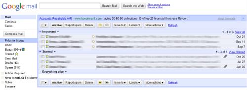 E-Mail Inbox aufräumen