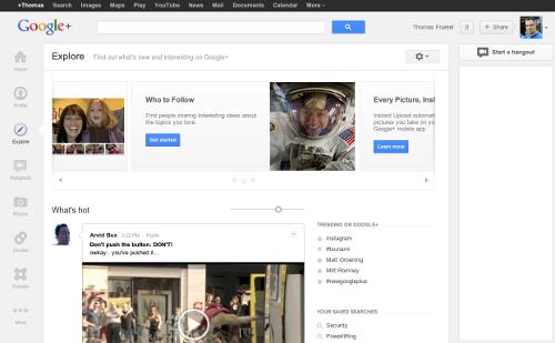 Google+ Explore