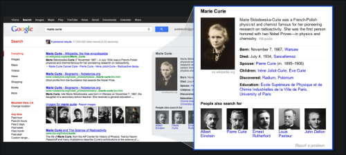 Knowledge Graph Marie Curie