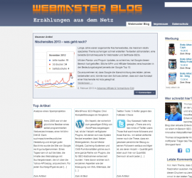 Screenshot Webmaster-Blog
