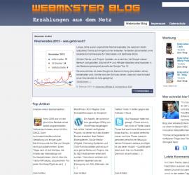 Screenshot Webmaster-Blog